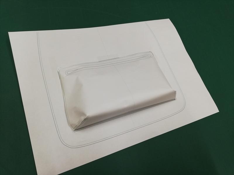 レザークラフト型紙リュック_試作