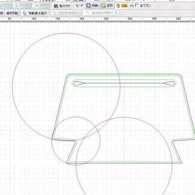 レザークラフト型紙_リュック_CAD設計中